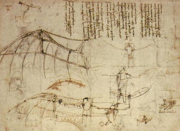 Крыло дельтаплана, проекта Леонардо да Винчи