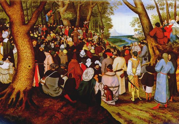 Проповедь Иоанна Крестителя. Картина Питьера Брейгеля младшего