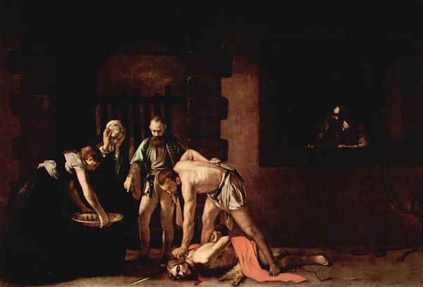 Усекновение головы Иоанна Крестителя. Картина Микелианжело Караваджо