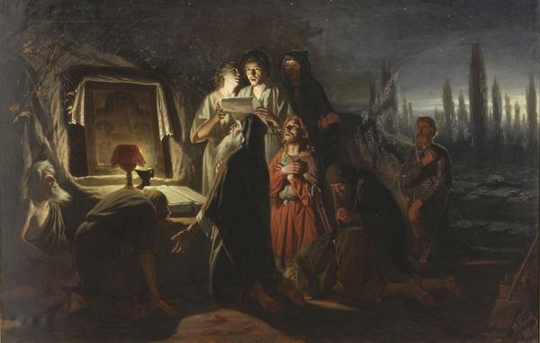 Первые христиане в Киеве. Картина Перова