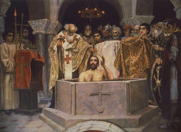 Крещение Владимира. Фреска В. М. Васнецова