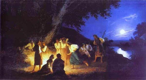 Ночь на Ивана Купалу. Картина Генриха Семирадского