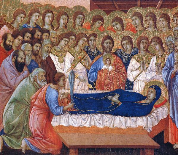 Успение Богородицы. Дуччо, 1308-1311 год, Сиена, музей собора