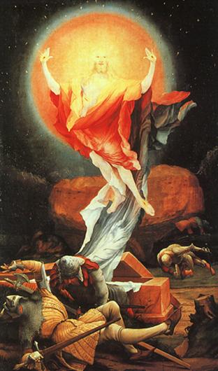Воскресение Иисуса Христа. Маттиас Грюневальд
