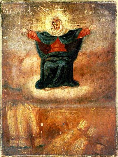 Спорительница хлебов. Это икона из Третьяковской галереи
