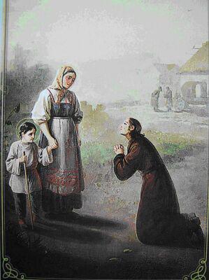 Мать ведет Тимофея к ямщику, старший брат умоляет ее не делать этого