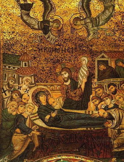 Успение. Мозаика церкви Санта-Мария дель Аммиральо