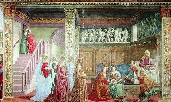 Доменико Гирландайо. Рождество Девы Марии