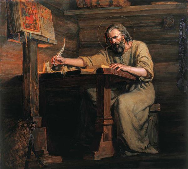 Просветитель Иосиф Волоцкий. Картина Сайды Афониной