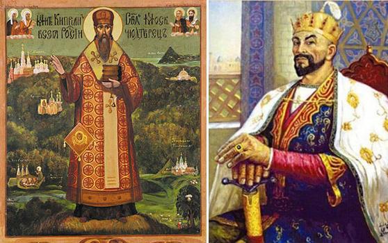 Слева митрополит Киприан. Справа Тимур