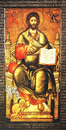 Митрополит Киприан припадает к ноге Иисуса Христа