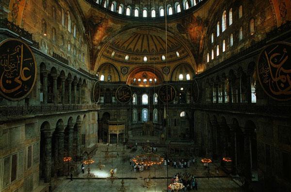 Интерьер Софии Константинопольской