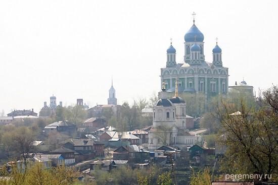 Елец, вид на город с горы Аргамач. Фото Олега Давыдова