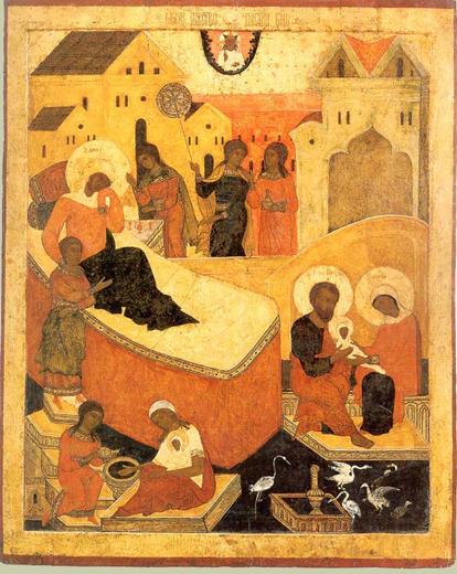 Рождество Богородицы. Тверская икона XVI века