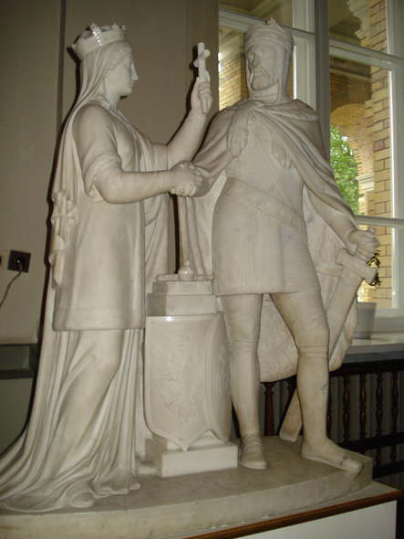Оскар Томаш Сосновский. Ядвига и Ягелло. Группа символизирует литовско-польскую унию