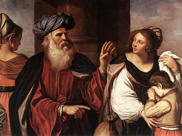 Авраам прогоняет Агарь и Измаила в пустыню