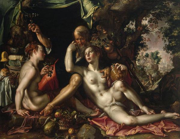 Лот и его дочери. Картина Иоахима Эйтевала
