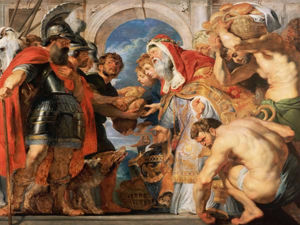 Мелхиседек благословляет Авраама. Картина Питера Пауля Рубенса