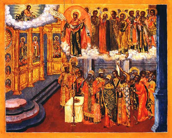 Явление Богородицы во Влахернском храме в Константинополе