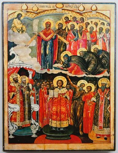 Икона покрова среднерусского извода
