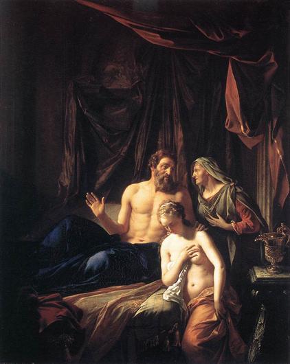 Авраам, Сара, Агарь. Картина Адриана ван дер Верфа