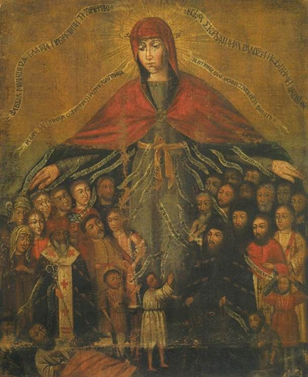 Украинская икона Покрова XVII века