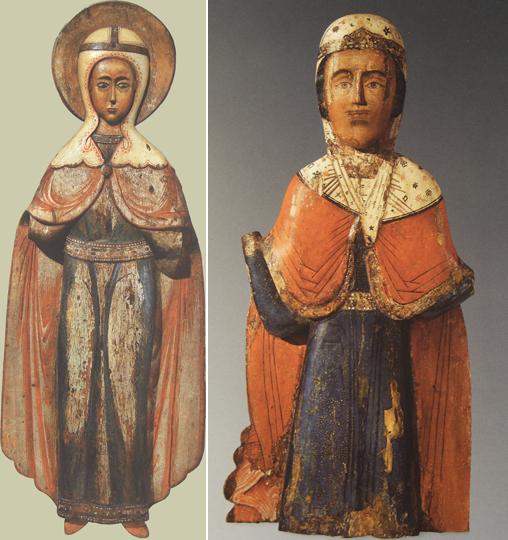Две русские резные Пятницы 17-го века. Происхождение икон неизвестно