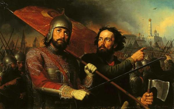 Минин и Пожарский, картина Михаила Скотти, 1850 год
