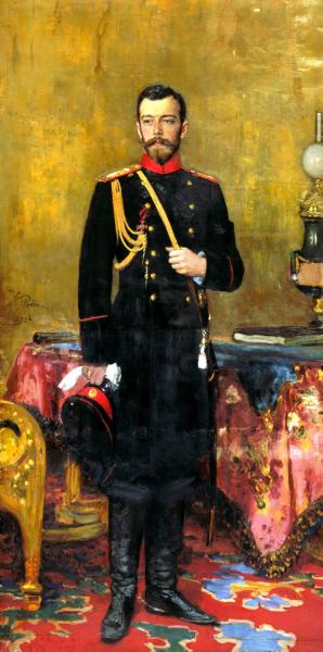 Николай II. Картина Ильи Репина