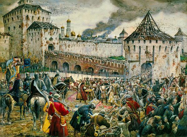 Изгнание поляков из Кремля. Картина Эрнста Лиснера