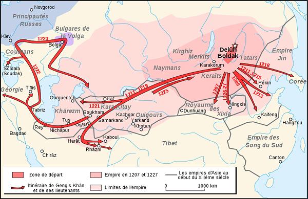 Походы Чингисхана и его полководцев