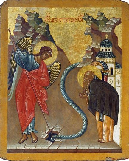 Чудо в Хонех, новгородская икона, 15 век