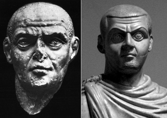Слева Диоклетиан, справа Максимин Даза