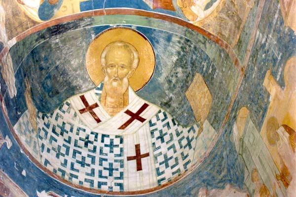 Никола. Фреска Дионисия из Ферапонтова монастыря