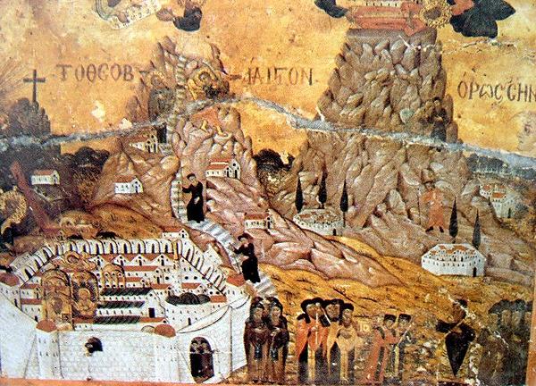 Ангелы переносят мощи Екатерины на Синай