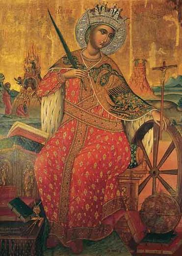 Икона святой Екатерины. Иеремия Палладас, 1612 год