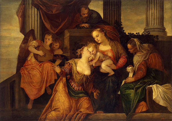 Сон Екатерины (она слева). Картина Веронезе