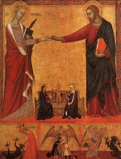 Обручение Екатерины Александрийской с Христом