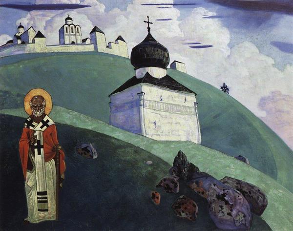 Святой Никола. Картина Николая Рериха