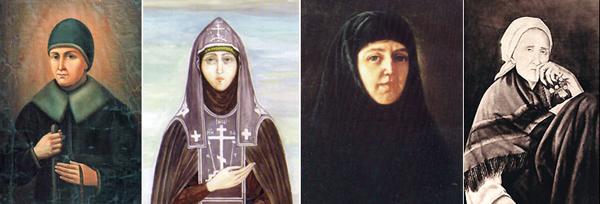 Слева направ: святые Александра (Мельгунова), Марфа (Милюкова), Елена (Мантурова), Пелагея (Серебренникова)