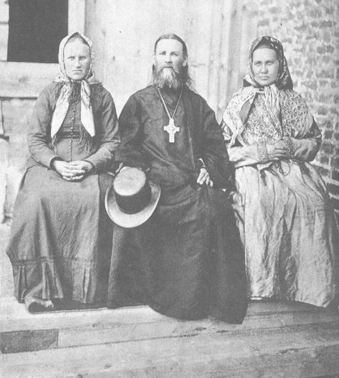 Иоанн Кронштадтский с сестрами в Суре
