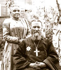 Батюшка Иоанн с женой Елизаветой Константиновной
