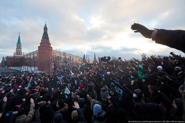 Манежная площадь 11 декабря 2010 года