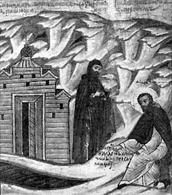 Одно из чудес Михаила Клопского. На берегу пересохшей Веряжи забил источник