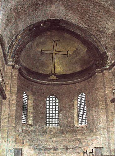 Церковь Святой Ирины в Стамбуле. Характерное для иконоборческого периода украшение храмов