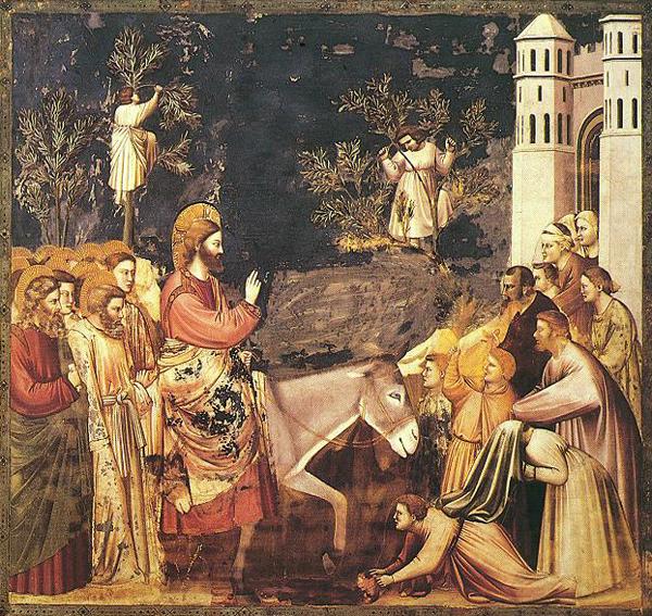 Джотто. Вход Господень в Иерусалим, фреска
