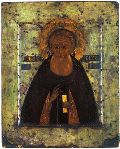 Александр Свирский. Икона мастерской Свирского монастыря, средина 16 века