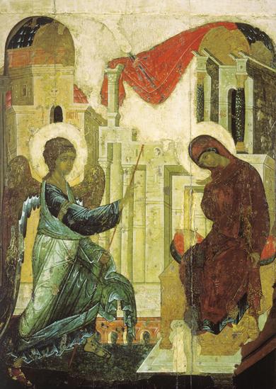 Благовещение. Икона Андрея Рублева
