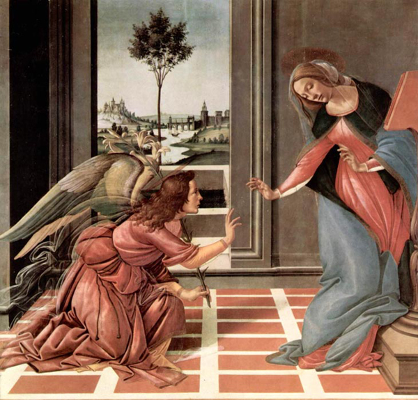 Благовещение. Картина Сандро Боттичелли