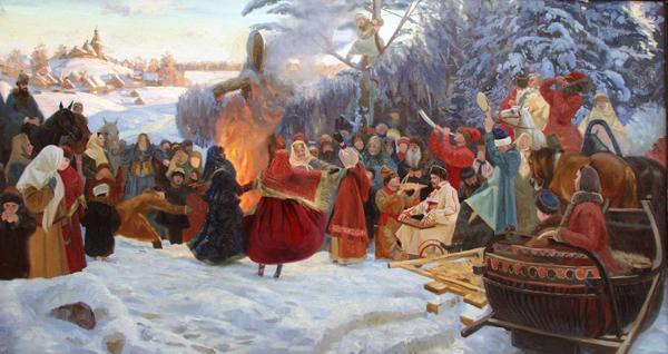 Семен Кожин. Масленица. Проводы зимы в XVII веке.